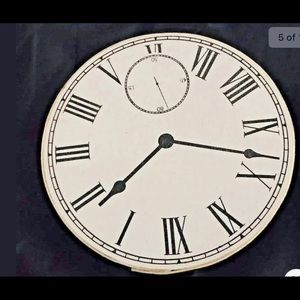 """New 3 Boxes Clock Image Two's Company 7"""" 6 1/2"""" 5"""""""